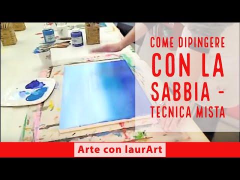 Dipinti Murali E Pittura Ad Ago : Acrilico e sabbia parte 1 come creare opere con la sabbia youtube