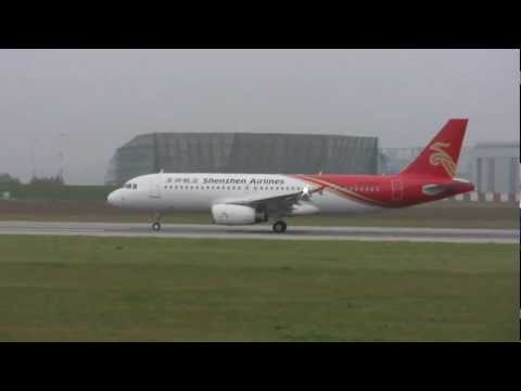 A320 B-6807 Shenzhen Airlines delivery flight