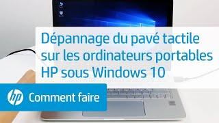 Dépannage du pavé tactile sur les ordinateurs portables HP sous Windows10