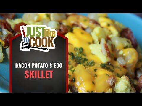 Easy Bacon Egg & Potato Breakfast Skillet   Best Recipe