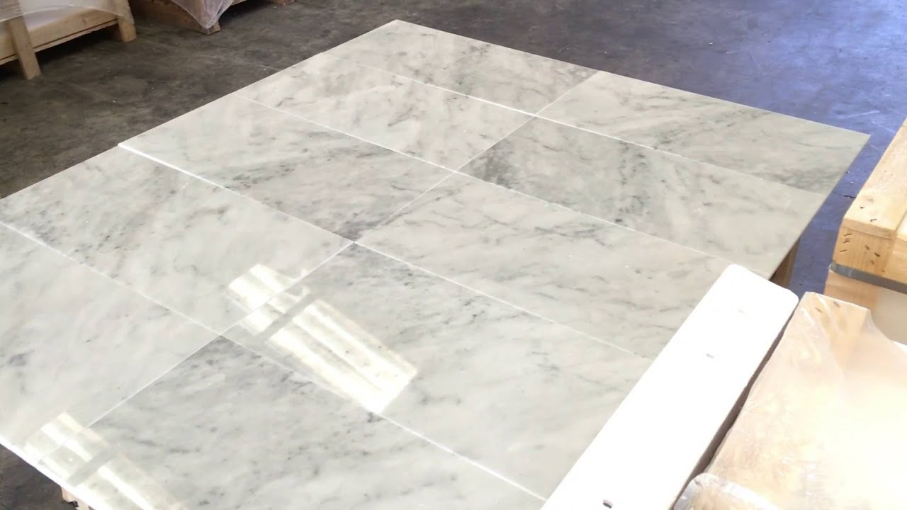 Bianco Carrara Marble Tile 12x24 You