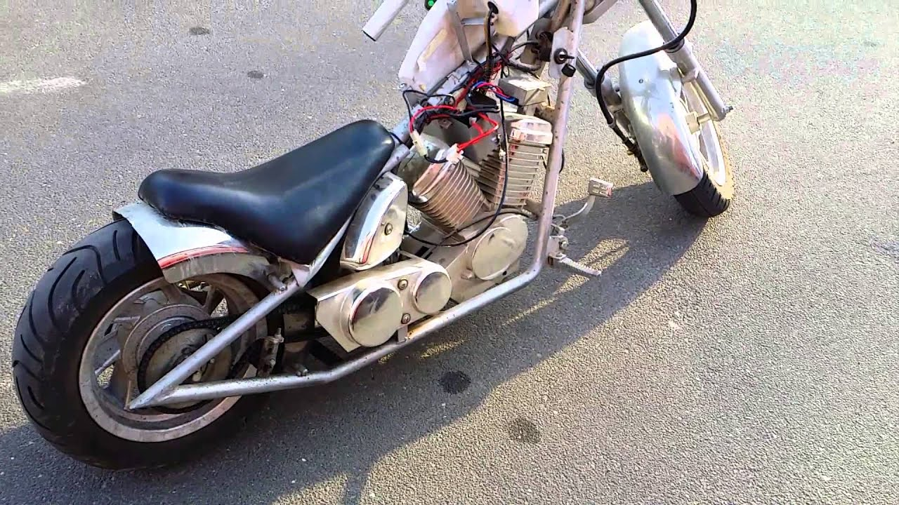 Chinese Mini Chopper Bike Wiring Diagram For 110cc Diablo Pocket From China Youtube Rh Com Parts