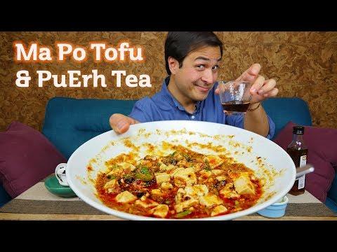 MaPo Tofu & PuErh Tea | Tasting a Vegan Recipe of a Popular Chinese Dish
