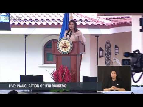 Inaugural speech of VP Leni Robredo