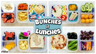 Back to School LUNCHES for KIDS - JK, 1st Grade, 3rd Grade 🍎 Bunches of Lunches WEEK 1