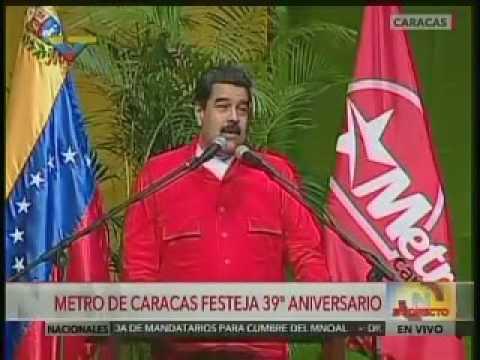 Así ofendió Maduro a uno de sus compañeros del Metro de Caracas