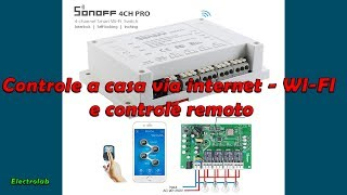 Automação residencial - WI-FI - 4G - Itead Sonoff 4 ch pro