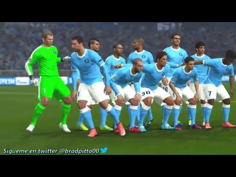 PES 2016 GAMEPLAY Simulation Manchester City vs Real Madrid - UEFA Champions League