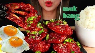 매운양념게장 먹방🔥🦀Spicy sauce RAW Crab korea food mukbang asmr