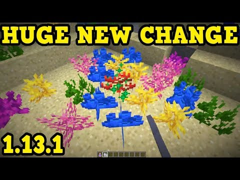 Minecraft 1.13.1 Out NOW - HUGE CHANGE For CONSOLE thumbnail