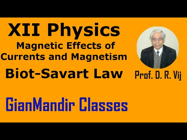 XII Physics | Magnetic Effects. of Current and Magnetism | Biot-Savart Law by Himanshu Sir