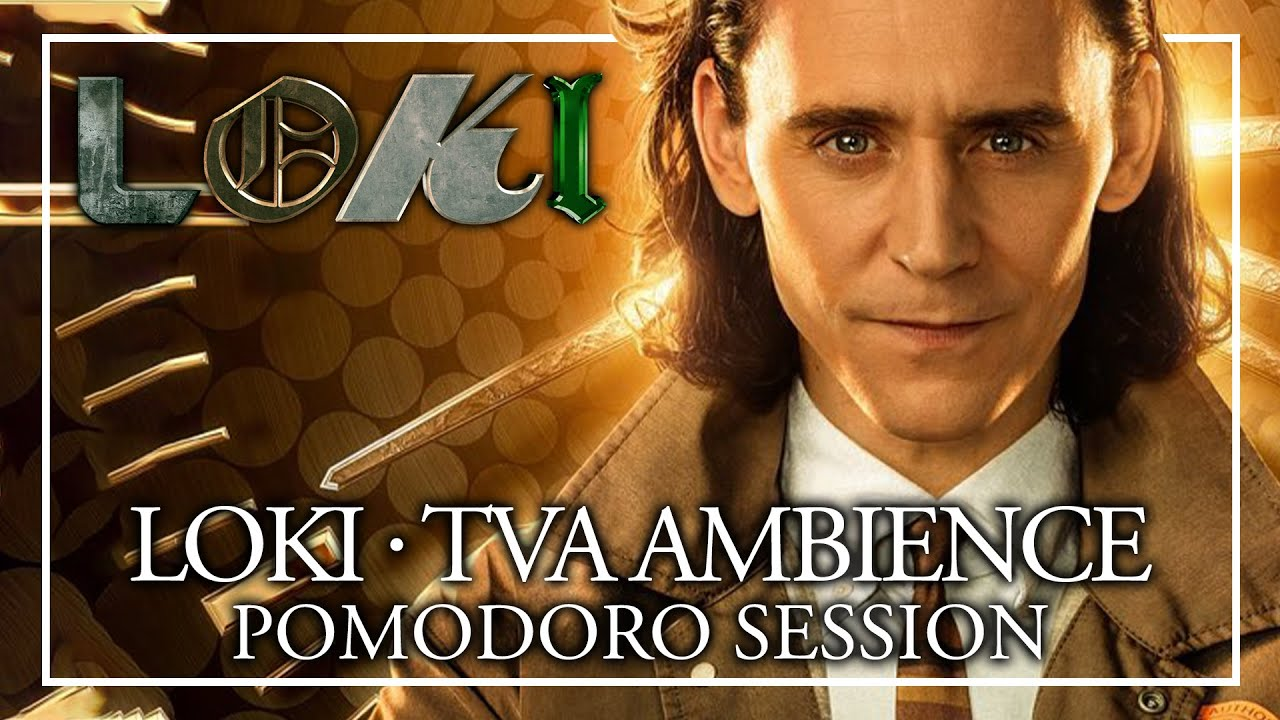 STUDY WITH LOKI - TVA Ambience Pomodoro Session - Disney+ Marvel ASMR