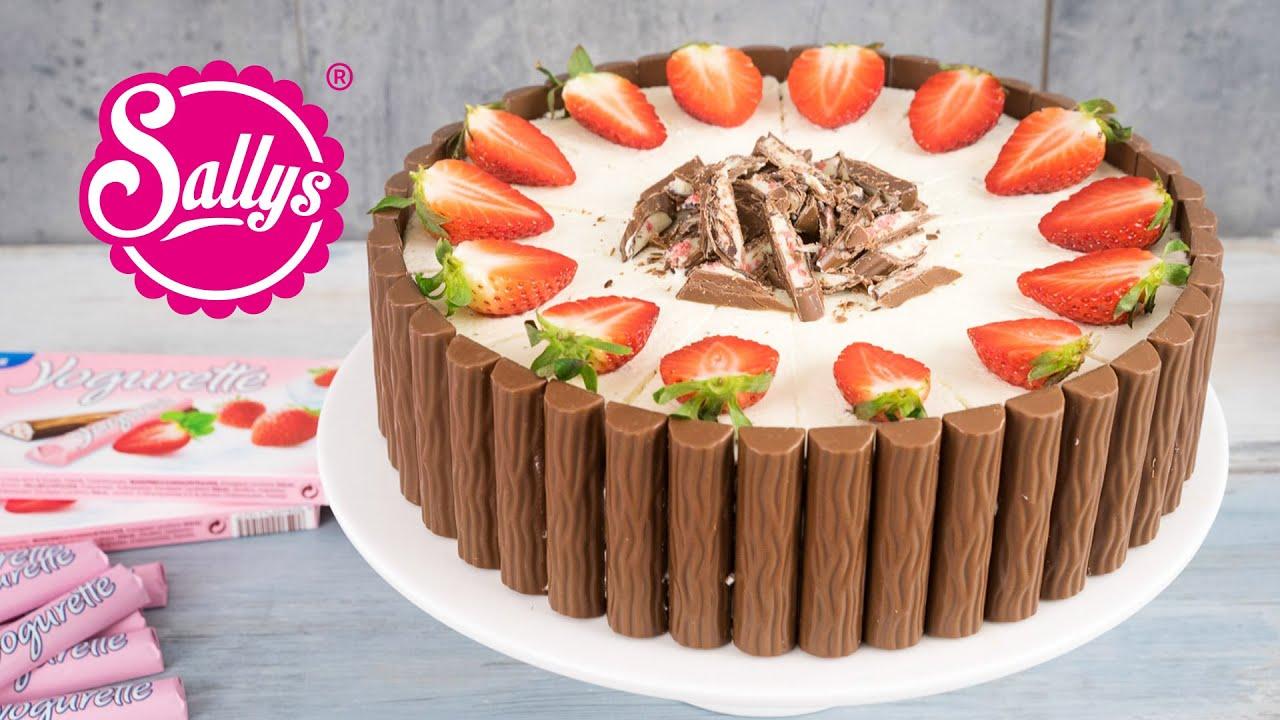 Yogurette Torte  ErdbeerJoghurtSchokoladentorte  YouTube