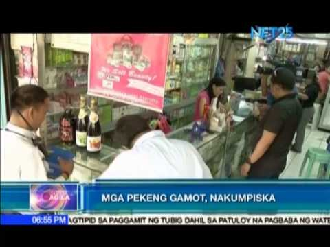 Fake drugs confiscated by NBI and FDA