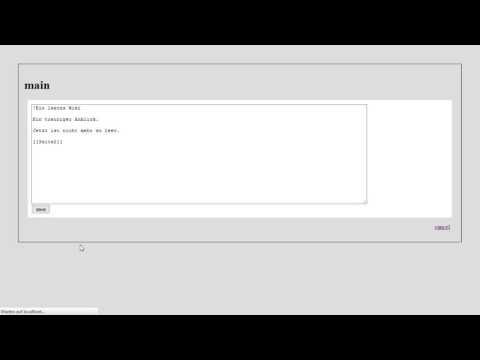 Web-Technologien, HTML Und CSS #21: Wiki-Demo