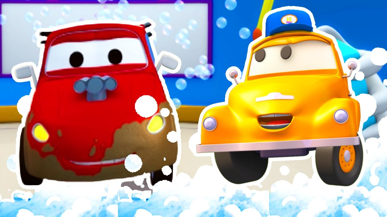 tom the tow trucks car wash and jerry the racing car truck cartoons for kids