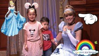 Meet and Greet PRINCESS CINDERELLA and ELENA!!!  At Disney World Magic Kingdom