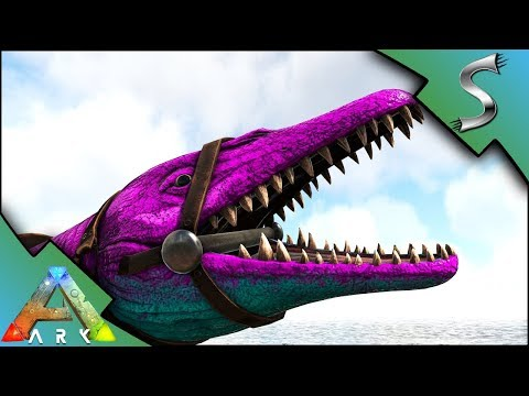 BASILOSAURUS BREEDING! CRAZY MUTATIONS AND ALPHA MOSA FIGHT! - Ark: Survival Evolved [S4E38]