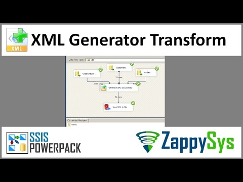 SSIS Xml Generator Transform - Create XML from multiple data sources