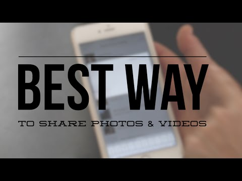 Share hundreds of photos at once! Best way to share photos & videos