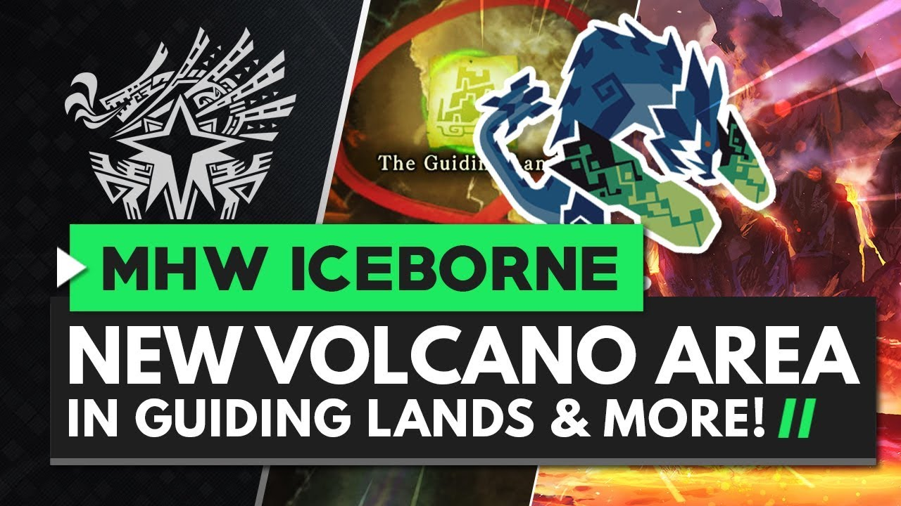 Monster Hunter World Iceborne | New Guiding Lands VOLCANIC Area & Rajang Update Details thumbnail