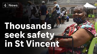 St Vincent: Thousands seek safety in shelters as eruptions continue
