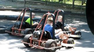 dakoma, brenden, and bryce on go carts