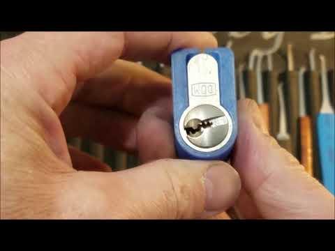 Взлом отмычками DOM   (428) 5 pin DOM Euro sent by Keymaster spp