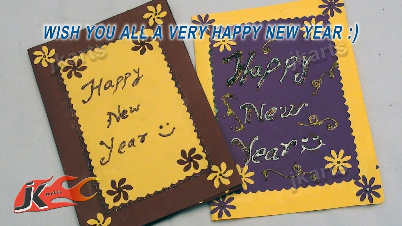 diy punch craft new year greeting card school project for kids jk arts 116 youtube