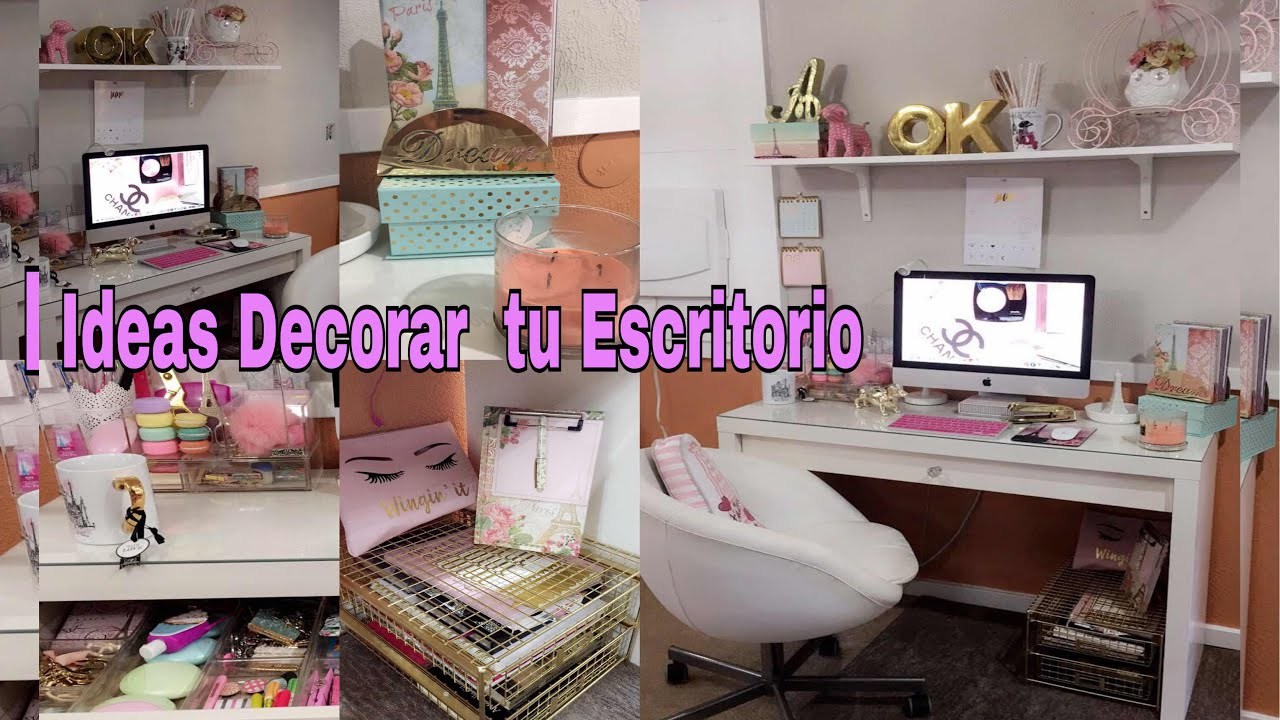 Tour por mi oficina y escritorio ideas para decorar for Como decorar tu escritorio de oficina