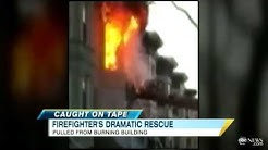 Firefighter's Dramatic Rescue Caught on Tape in Brooklyn