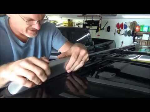 Toyota 4runner Factory roof rack crossbar installation or