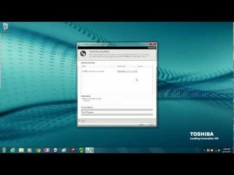 Toshiba How-To: Create System Recovery Media On A USB Flash Drive