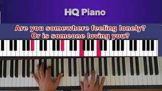 Lionel Richie - Hello (piano tutorial with lyrics)