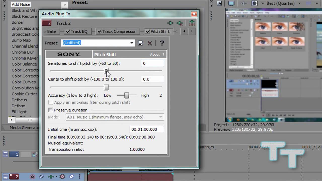 SONY VEGAS - Pitch Shift Tutorial - Chipmunk Voice / Deep Voice / Slow Mo /  Speed Up