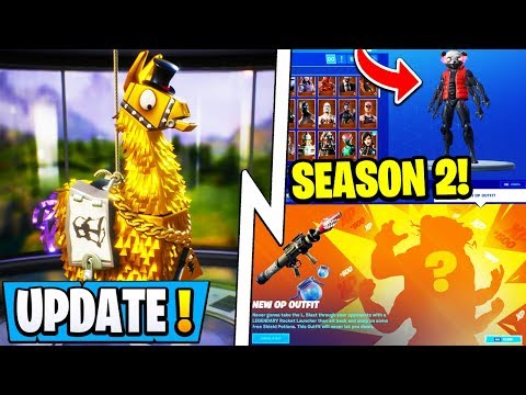 *NEW* Fortnite Update!   Season 2 Mutant Skin 1st Look, Loot Crates, Rick Roll!