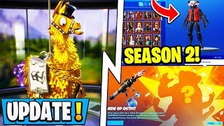 *NEW* Fortnite Update! | Season 2 Mutant Skin 1st Look, Loot Crates, Rick Roll!