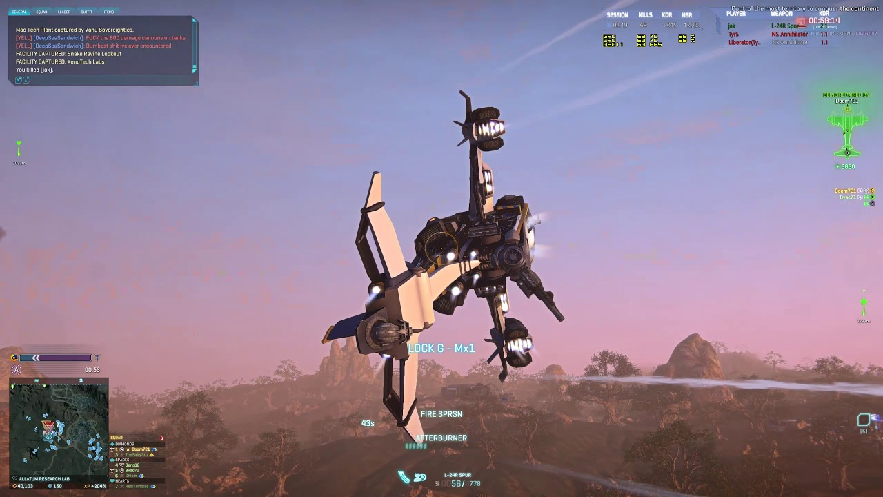 Planetside 2: Fire Support - Spur Time!