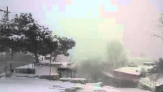 Snow Lake Effect On Istanbul 18 February 2015