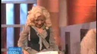 Christina Aguilera Ellen Degeneres 2007