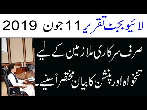 Salary Increase after Budget Speech 2019-20 for Govt. Employees Pakistan