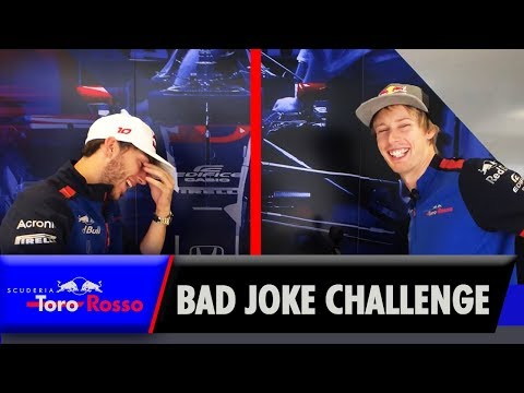 Prepare (not) To Laugh! Pierre Gasly & Brendon Hartley's Bad Joke Challenge