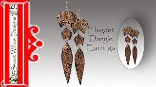 Polymer Clay Tutorial Elegant Dangle Earrings