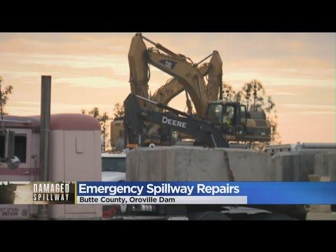 Crews Work Toward Makeshift Oroville Dam Fix While Evacuees Wait