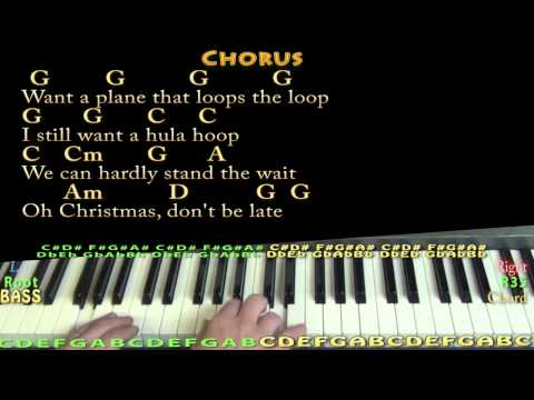 Christmas Don't Be Late (CHRISTMAS) Piano Cover Lesson in G with Chords/Lyrics