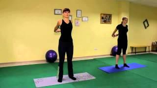 Быстро похудеть   Оксисайз Oxycize видео уроки упражнений онлайн, бесплатно  разминка, руки за спино