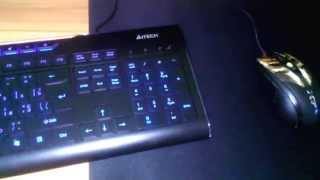 клавиатура A4TECH KD-800L внешний вид в темноте