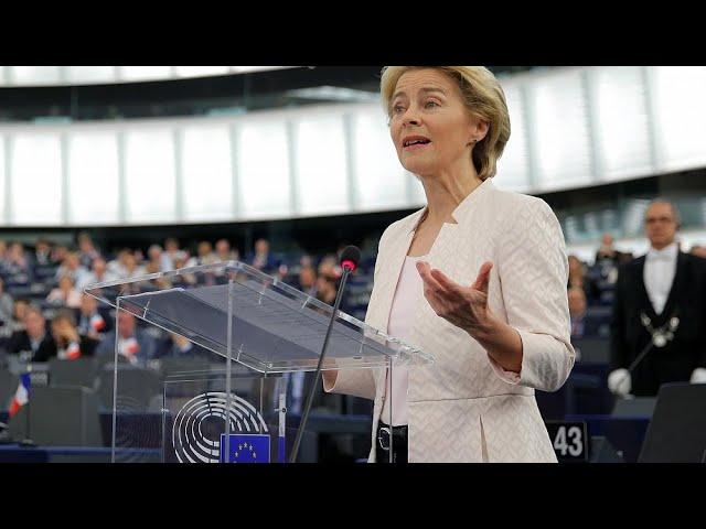 Live | EU Commission president nominee von der Leyen gives speech