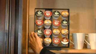 Nifty Coffee Pod Cabinet Storage System