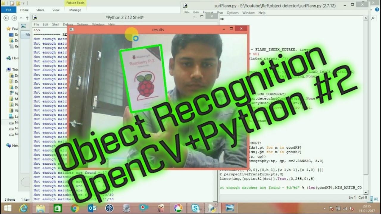 OpenCV Real Time Object Recognition In Any Background | How to write a  object recognition Part-2